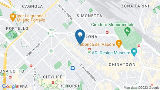 UNAHOTELS Scandinavia Milano Map