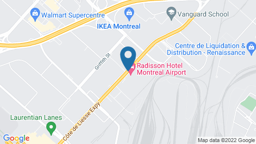 Best Western Montreal Aeroport - Airport Hotel Map