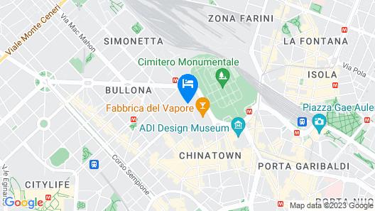 B&B Hotel Milano Cenisio Garibaldi Map