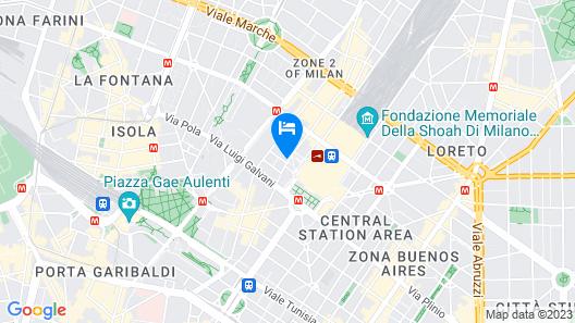 NYX Hotel Milan by Leonardo Hotels Map