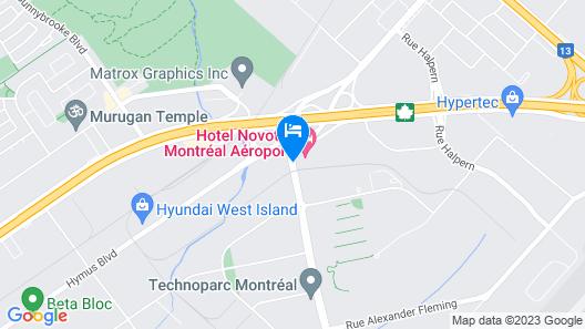 Novotel Montreal Aeroport Map