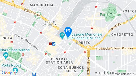 Soperga Hotel Map