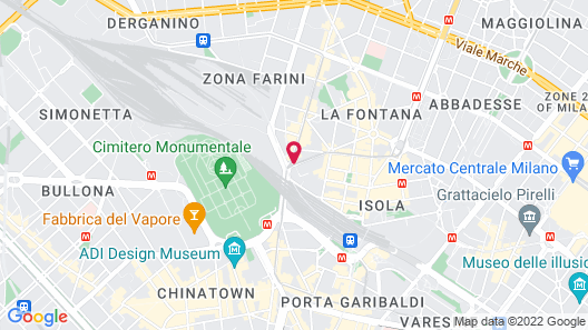 Holiday Inn Milan - Garibaldi Station Map