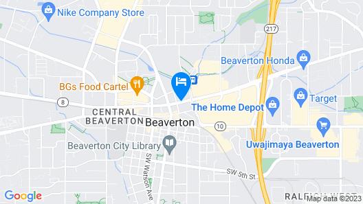 Motel 6 Beaverton, OR Map