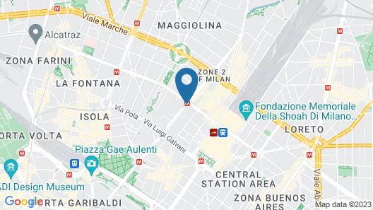 Crowne Plaza Milan City Map