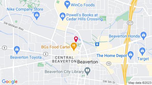 Hyatt House Portland Beaverton Map