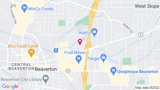 TownePlace Suites by Marriott Portland Beaverton Map