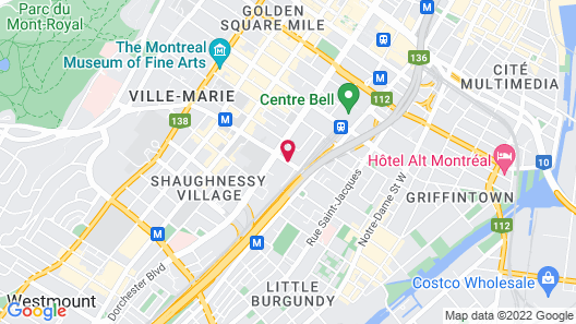 Hotel Espresso Montreal Downtown Map