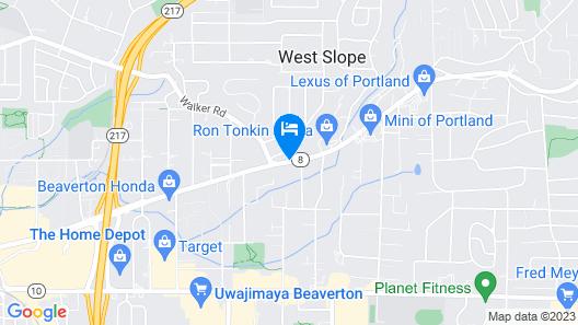 Shilo Inn Hotel & Suites - Portland/Beaverton Map