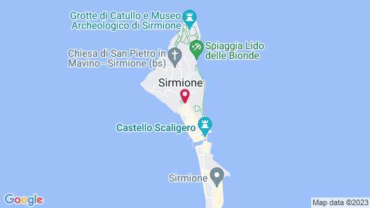 Villa Cortine Palace Hotel Map