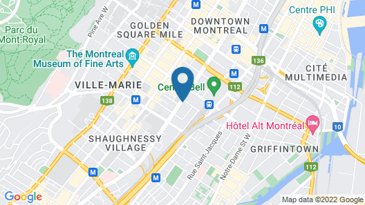Holiday Inn Hotel & Suites Montreal Centre-ville Ouest, an IHG Hotel Map