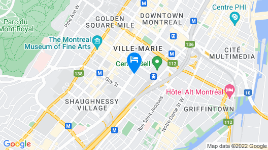 Holiday Inn Hotel & Suites Montreal Centre-ville Ouest Map