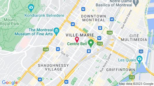 Novotel Montreal Centre Map
