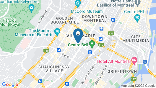 Novotel Montreal Centre Map