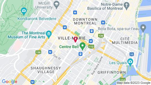 Le Centre Sheraton Montreal Hotel Map