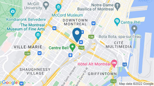 Montreal Marriott Chateau Champlain Map