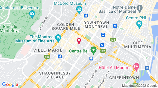 Best Western Plus Montreal Downtown-Hotel Europa Map