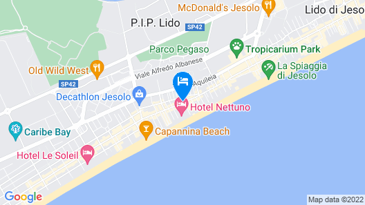 Hotel Azzorre & Antille Map