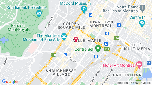 Vogue Hotel Montreal Downtown Map