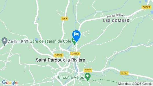 Camping la Font Pissotte Map