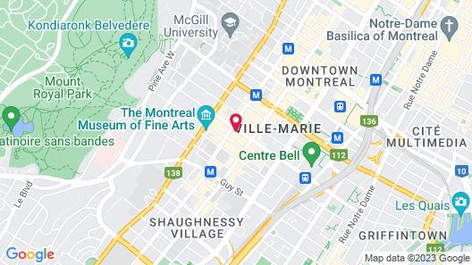 Four Seasons Montreal Map