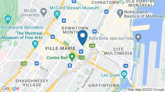 Hotel Bonaventure Montreal Map