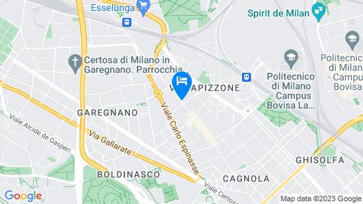 Milan Suite Hotel Map