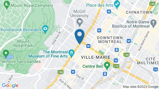 Sofitel Montreal Golden Mile Map
