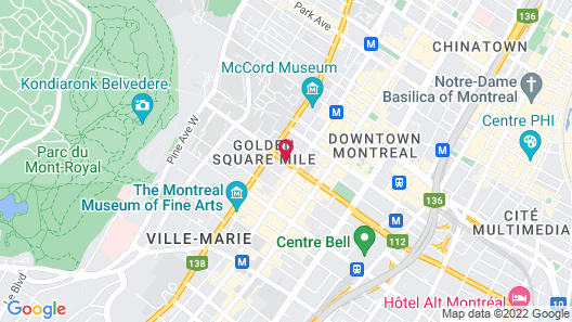 Residence Inn by Marriott Montreal Downtown Map