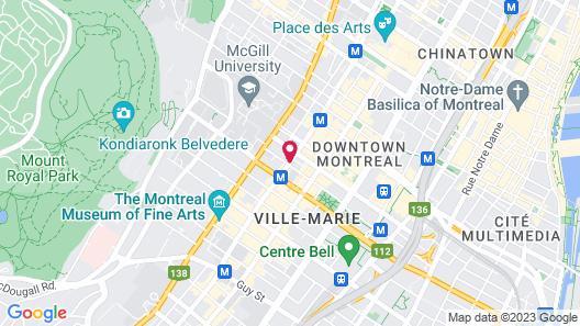 Le St-Martin Hôtel Particulier Montréal Map