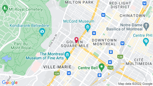 Best Western Ville-Marie Montreal Hotel & Suites Map