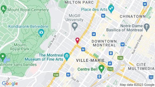 Hotel Omni Mont-Royal Map
