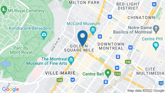 Hotel Omni Mont-Royal Map