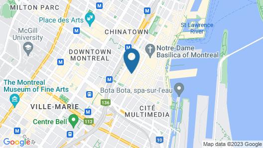 Hotel Le St-James Montréal Map