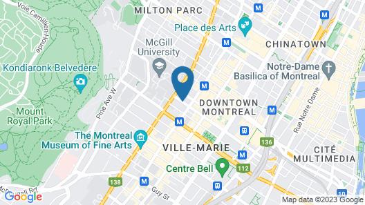 Hotel Le Germain Montreal Map