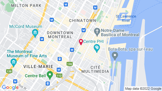 InterContinental Montreal Map