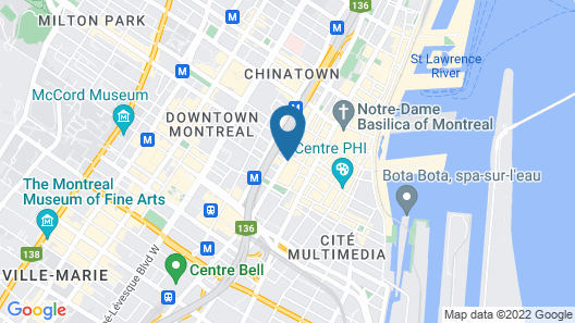 InterContinental Montreal, an IHG Hotel Map