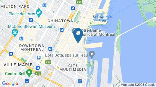 Hotel Epik Montreal Map