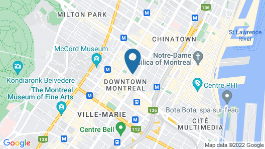 Le Square Phillips Hotel And Suites Map