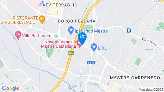 Novotel Venezia Mestre Castellana Map