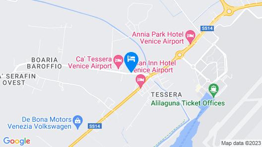 Hotel Venice Resort Airport Map