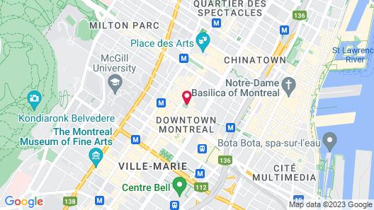 Hotel Birks Montreal Map