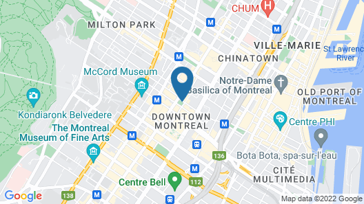 Hotel Birks Montreal Map