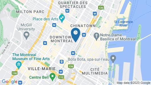 Hotel Le Dauphin Montreal Centre Ville Map