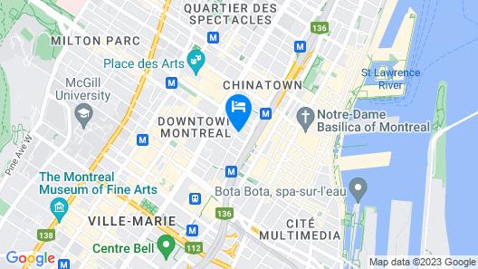 Hotel Monville Map