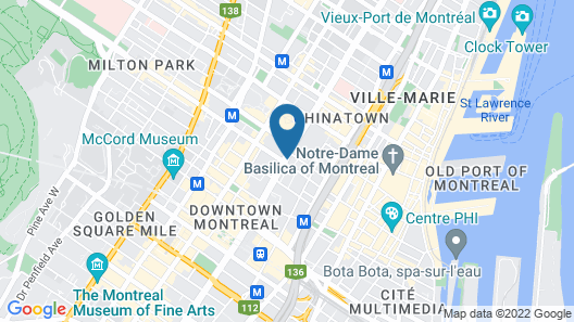 Courtyard by Marriott Montreal Downtown Map