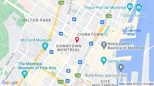AC Hotel by Marriott Montreal Downtown Map