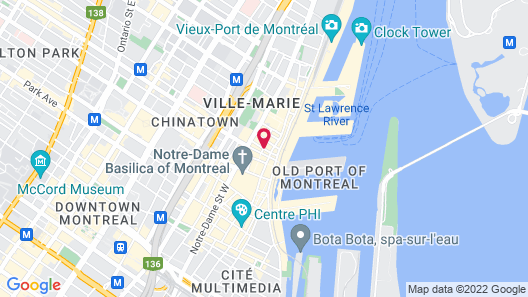 SpringHill Suites by Marriott Old Montreal Map