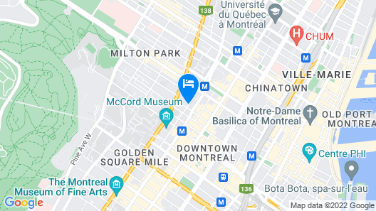 Delta Hotels by Marriott Montreal Map