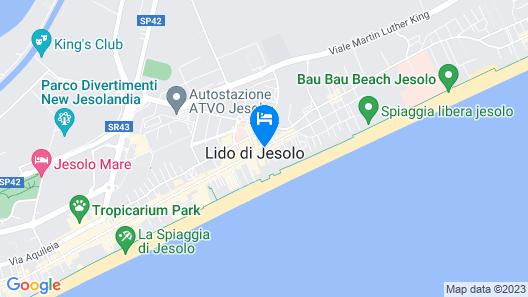 Hotel Centrale Jesolo Map